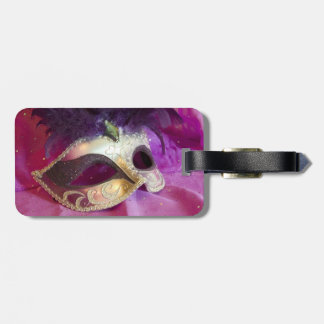 Purple Masquerade Mask Luggage Tag