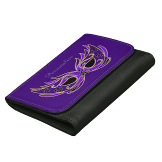 Purple Masquerade Mask Women's Wallet