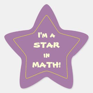 Purple Math Student Star Star Sticker