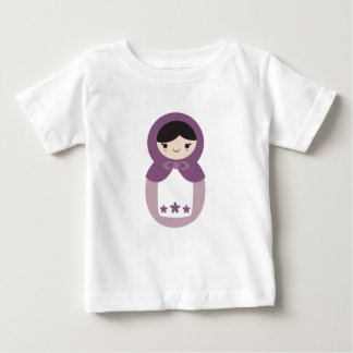 Purple Matryoshka Doll Baby T-Shirt