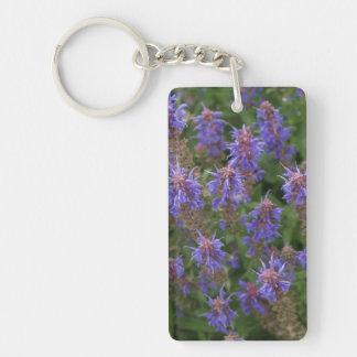 Purple Meadow Sage Single-Sided Rectangular Acrylic Keychain