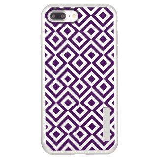 Purple Meander and Diamonds on Silver Incipio DualPro Shine iPhone 8 Plus/7 Plus Case