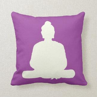 Purple Meditation Buddha Pillow