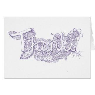 Purple Mehndi Art Thank You Card