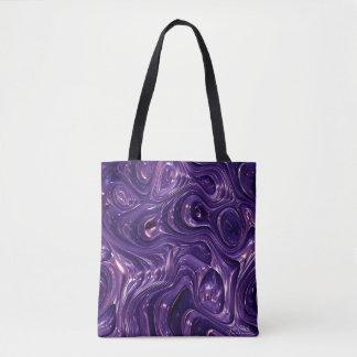 Purple Meltaway Fashion Tote Bag by Julie Everhart