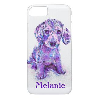 purple merle dachshund iPhone 7 case