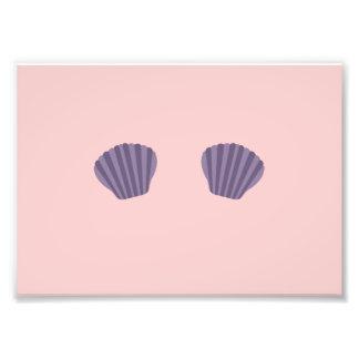 Purple Mermaid Bikini Photo Print