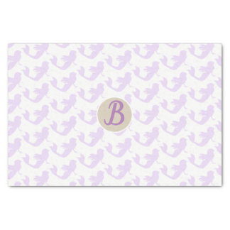 Purple Mermaid Custom Personalized Monogram Party Tissue Paper