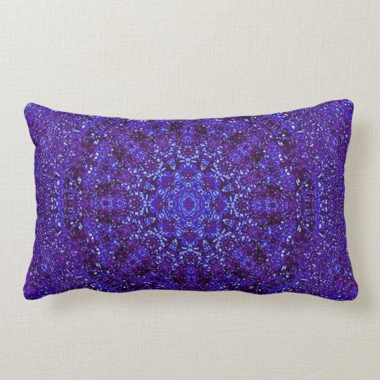 Purple Metallic Lumbar Pillow
