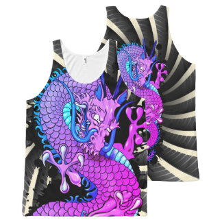 Purple Miami Dragon with Wind Bars Tank Top