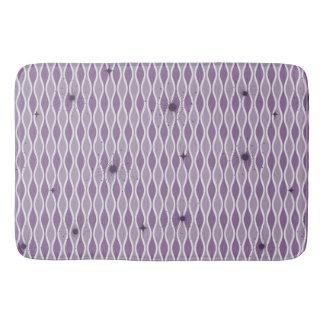 Purple Mod Hourglass & Sputniks Bath Mat