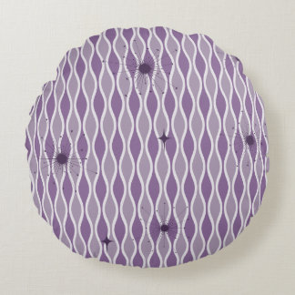 Purple Mod Hourglass & Sputniks Pillow