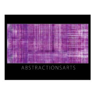 Purple Modern Art Postcard