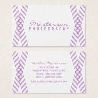 Purple Modern Deco Business Card