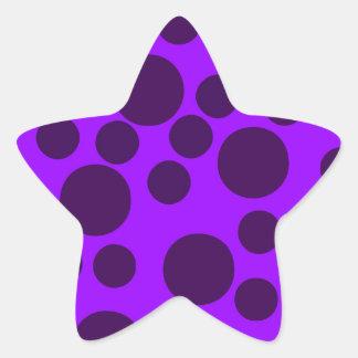 Purple Modern Dots Star Stickers