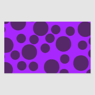 Purple Modern Dots Stickers