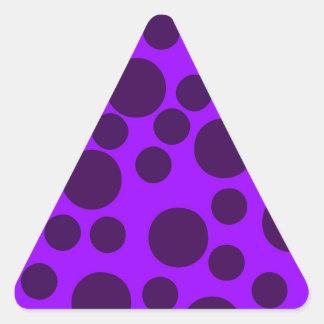 Purple Modern Dots Triangle Stickers