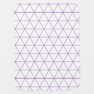 Purple Modern Geometric Baby Blanket