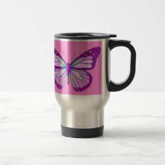 Purple Monarch Butterfly Mauve Gifts by Sharles Travel Mug