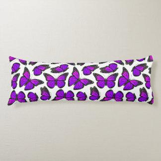 Purple Monarch Butterfly Pattern Body Pillow