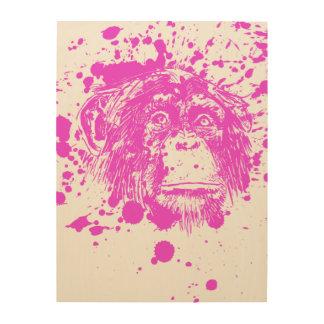 Purple Monkey Wood Canvas