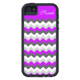 Purple Monogram Chevron ZigZag - Pick Your Color! iPhone 5 Cases