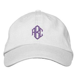 Purple Monogram Embroidered Hats
