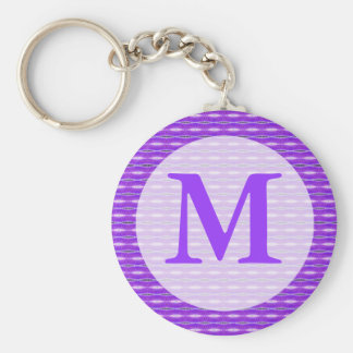 purple monogram keychain