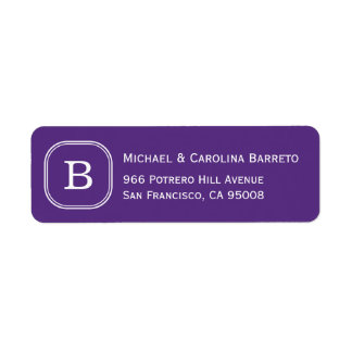 Purple Monogram Labels