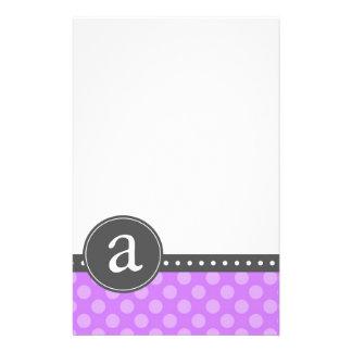Purple Monogram Stationery Paper
