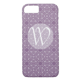 Purple Monogram with Pattern Case-Mate iPhone Case