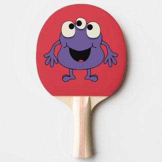 Purple Monster Kids Table Tennis Paddle