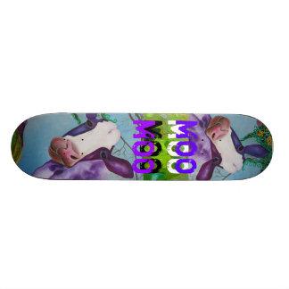 Purple MOO COW Skateboard
