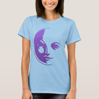 PURPLE MOON FACE T-Shirt