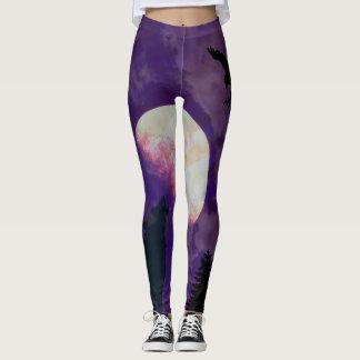Purple Moon Leggings