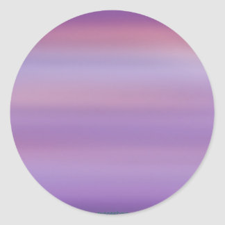Purple Moon Mist Classic Round Sticker