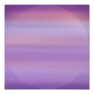Purple Moon Mist Invitations