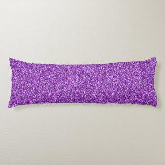Purple Moondust Glitter Pattern Body Pillow