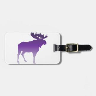 Purple Moose Luggage Tag