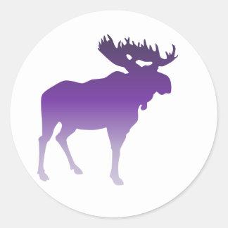 Purple Moose Sticker
