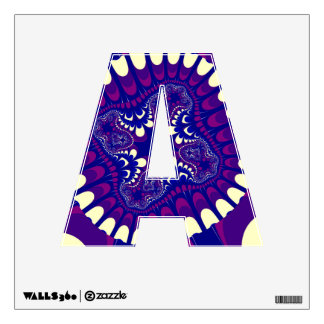 Purple Morning Glory Flower Letter A Decal