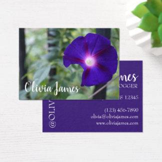 Purple Morning Glory Garden Flower Nature Photo Business Card
