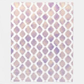 Purple Moroccan Chic Pretty Glam Pattern Fleece Blanket