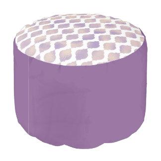 Purple Moroccan Chic Pretty Glam Pattern Pouf