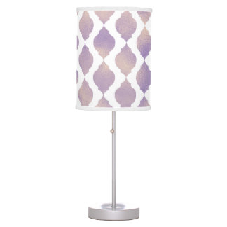 Purple Moroccan Chic Pretty Glam Pattern Table Lamp