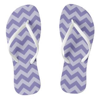 Purple Moroccan Moods Chevrons Flip Flops