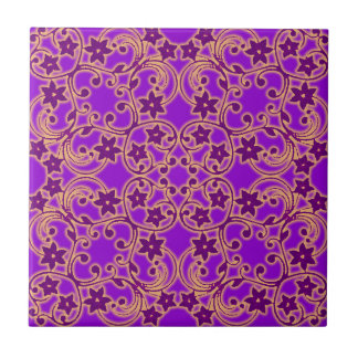 Purple Moroccan Pattern Tile