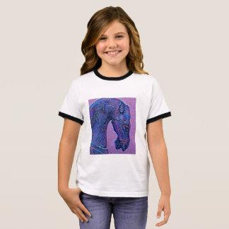 Purple mosaic horse ringer T-Shirt