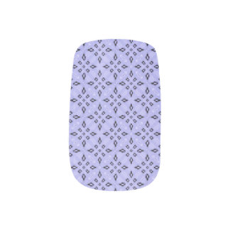 Purple Mosaic Pattern Minx Nail Art