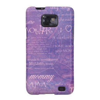 purple mothers day samsung galaxy SII cases